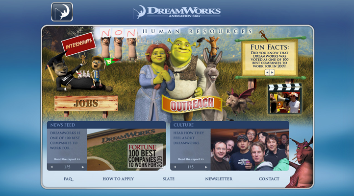 DreamWorks Human Resources Site