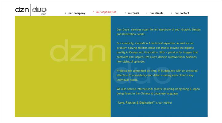 DZN DUO Web Site