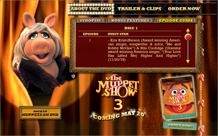 Muppets 3 DVD About page