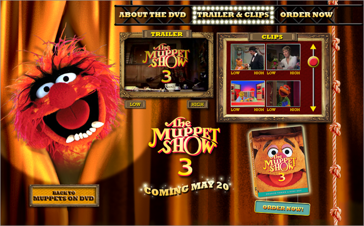 Muppets 3 DVD Trailer Page