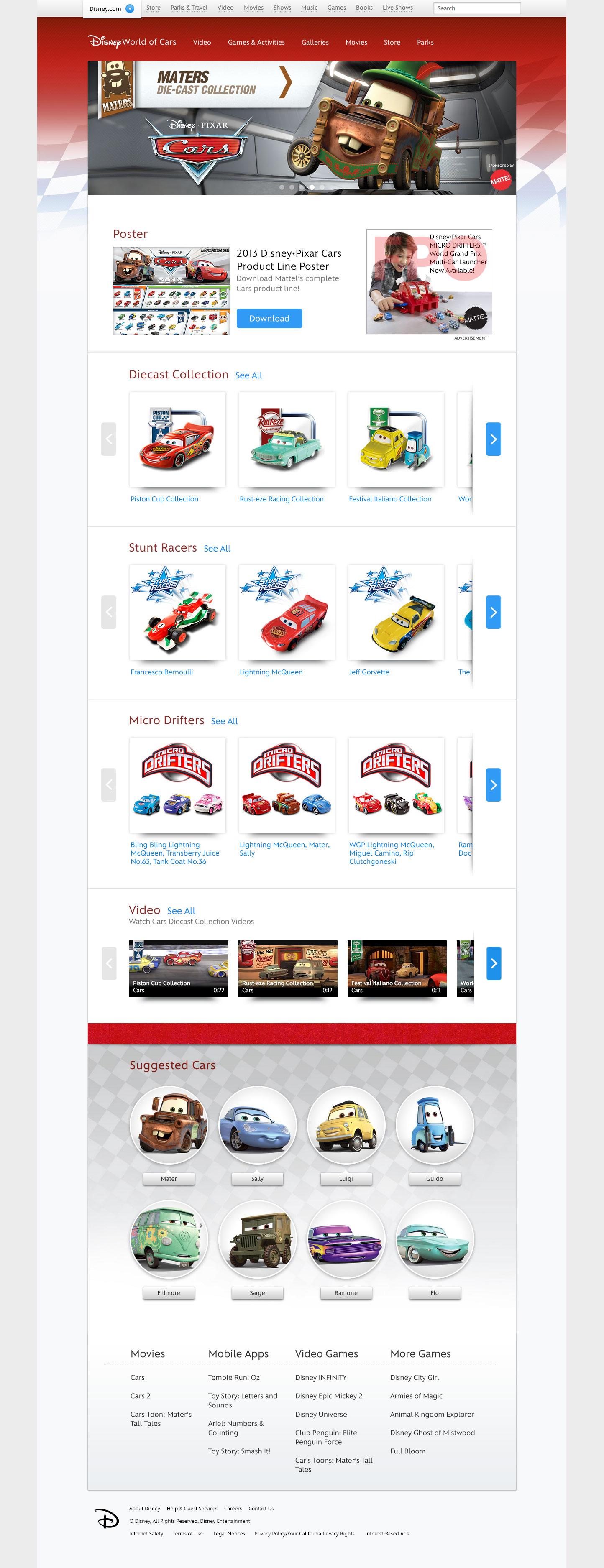 Mattel Homepage