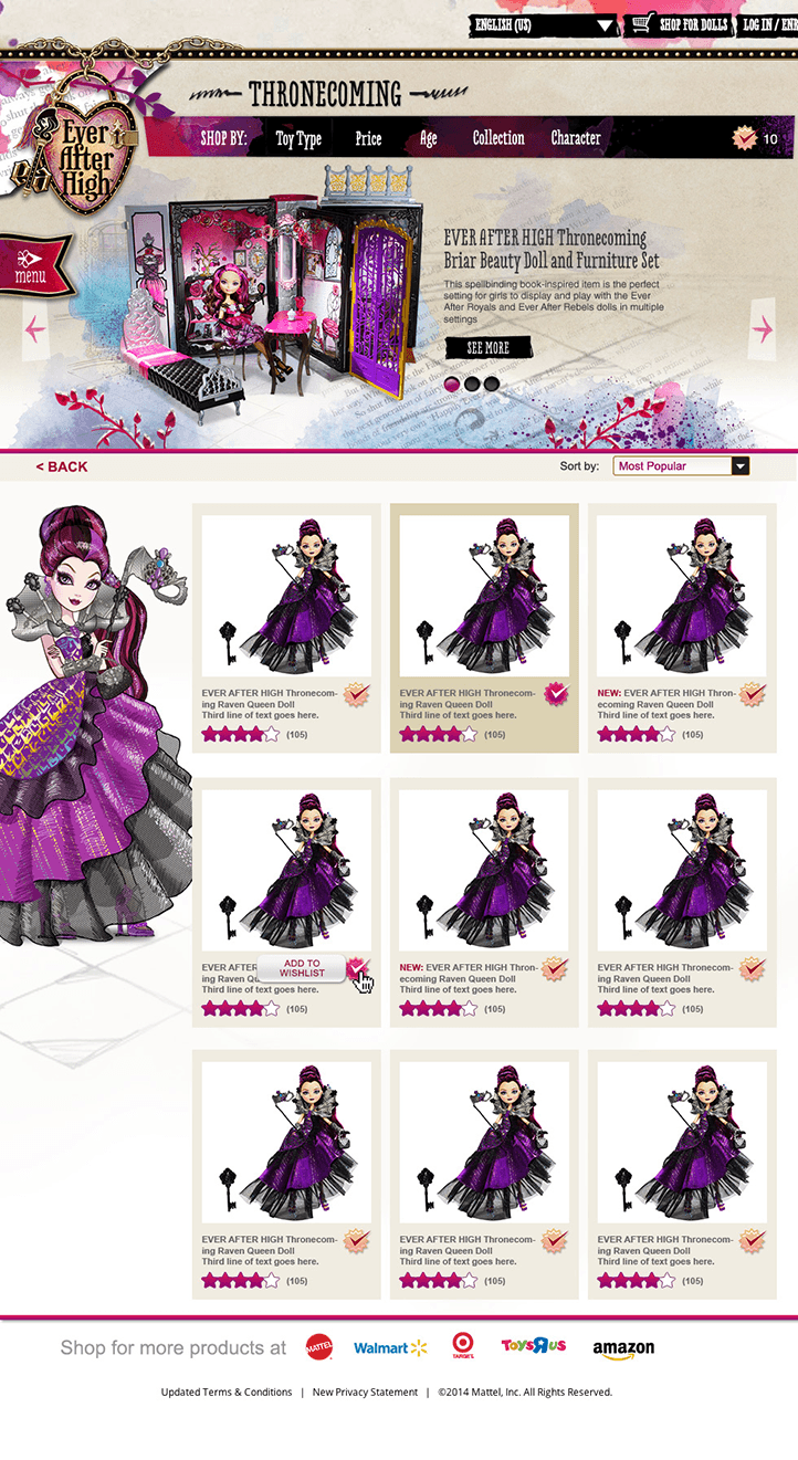 Ever After High Product Catalog
