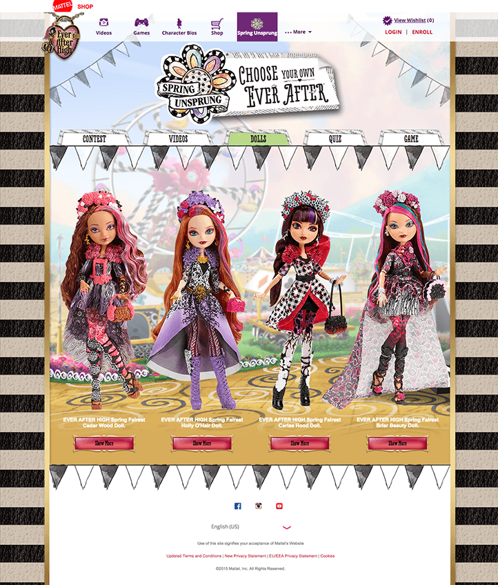 EAH Spring Unsprung Dolls Page